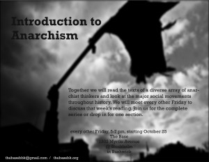 Anarchism flier