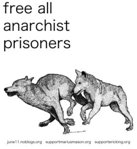 NYC Anarchist Black Cross: Letter Writing Dinner for June 11th Prisoners